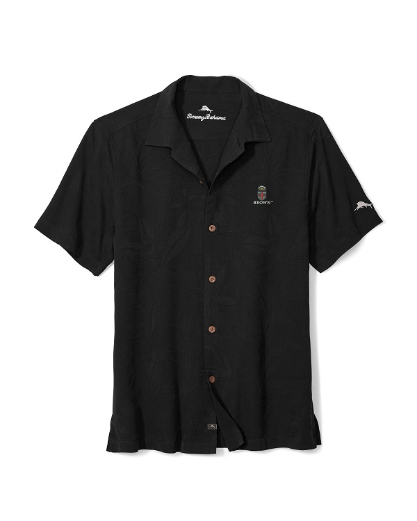 Image For Tommy Bahama Luau Floral Camp Shirt - Black