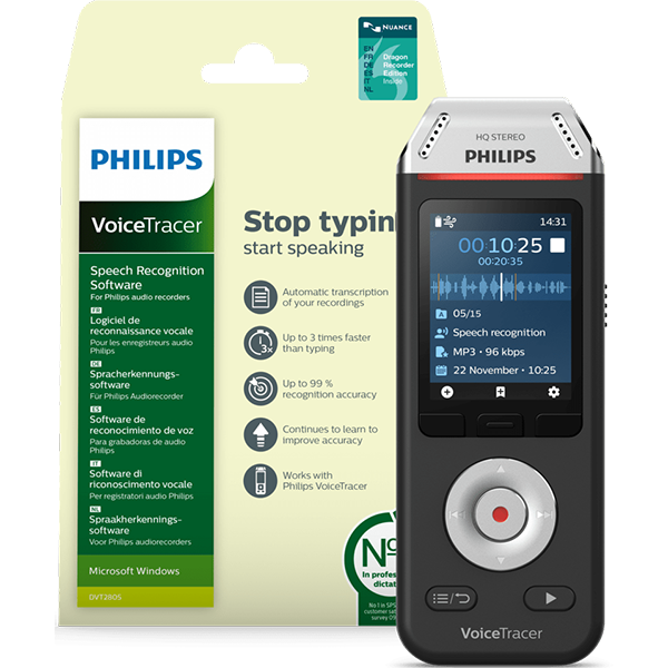 Image For Philips VoiceTracer Audio Recorder (DVT2810)