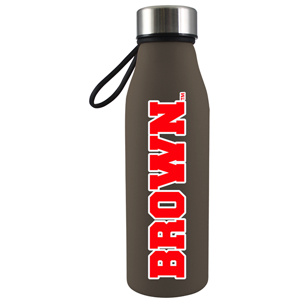Cover Image For 20oz Matte Brown Glass Water Bottle