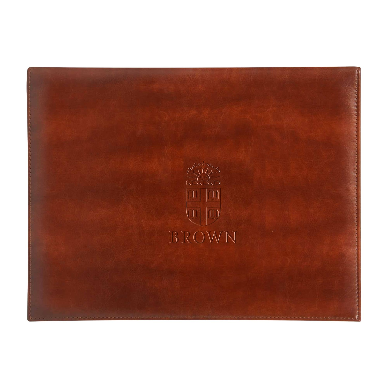 Image For Brown Leather Document/Certificate Holder