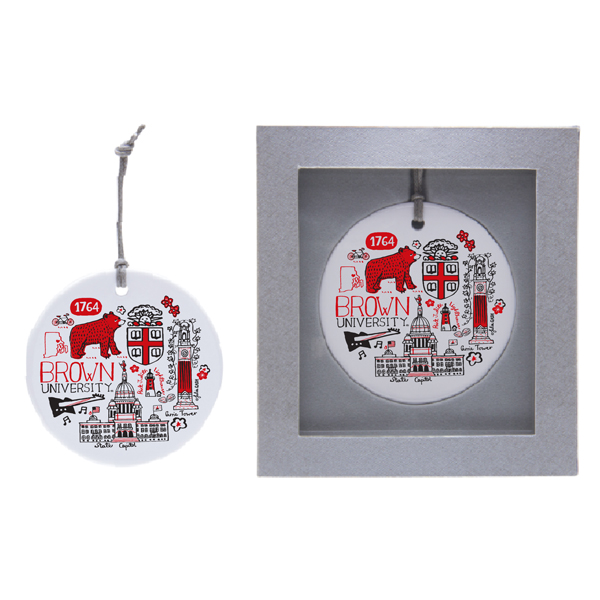 Image For Julia Gash Ceramic Ornament - Bear