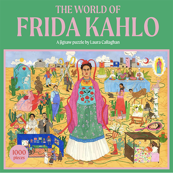 Cover Image For The World of Frida Kahlo: A Jigsaw Puzzle