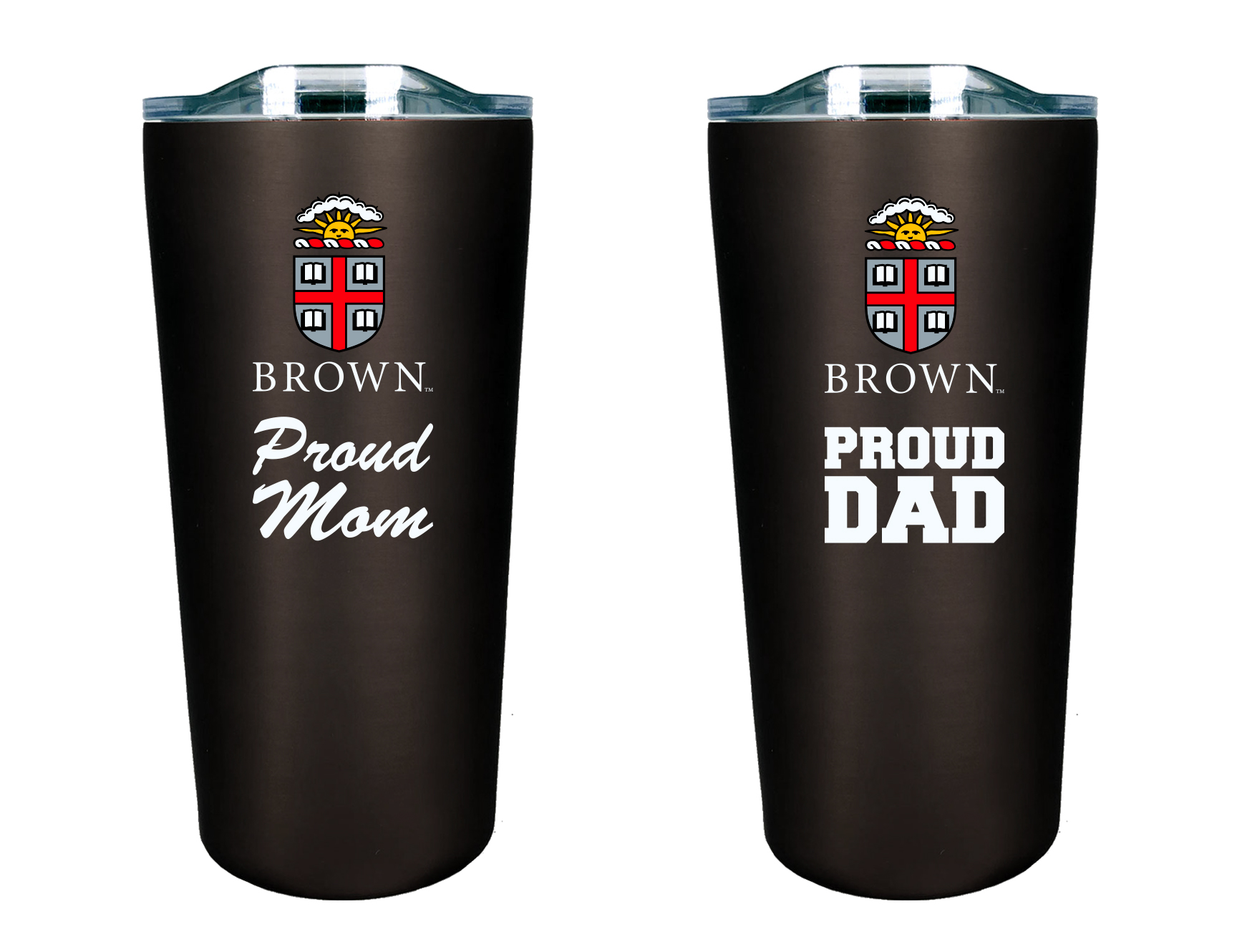 Image For BROWN PROUD Mom & Dad 2 piece tumbler set