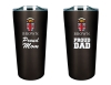BROWN PROUD Mom & Dad 2 piece tumbler set Image