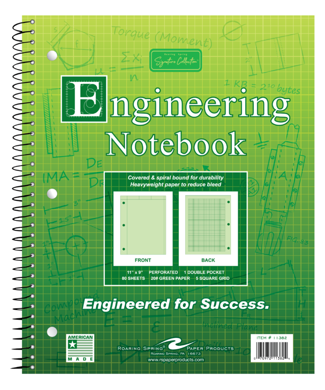 Image For Engineering Notebook - Green Tint
