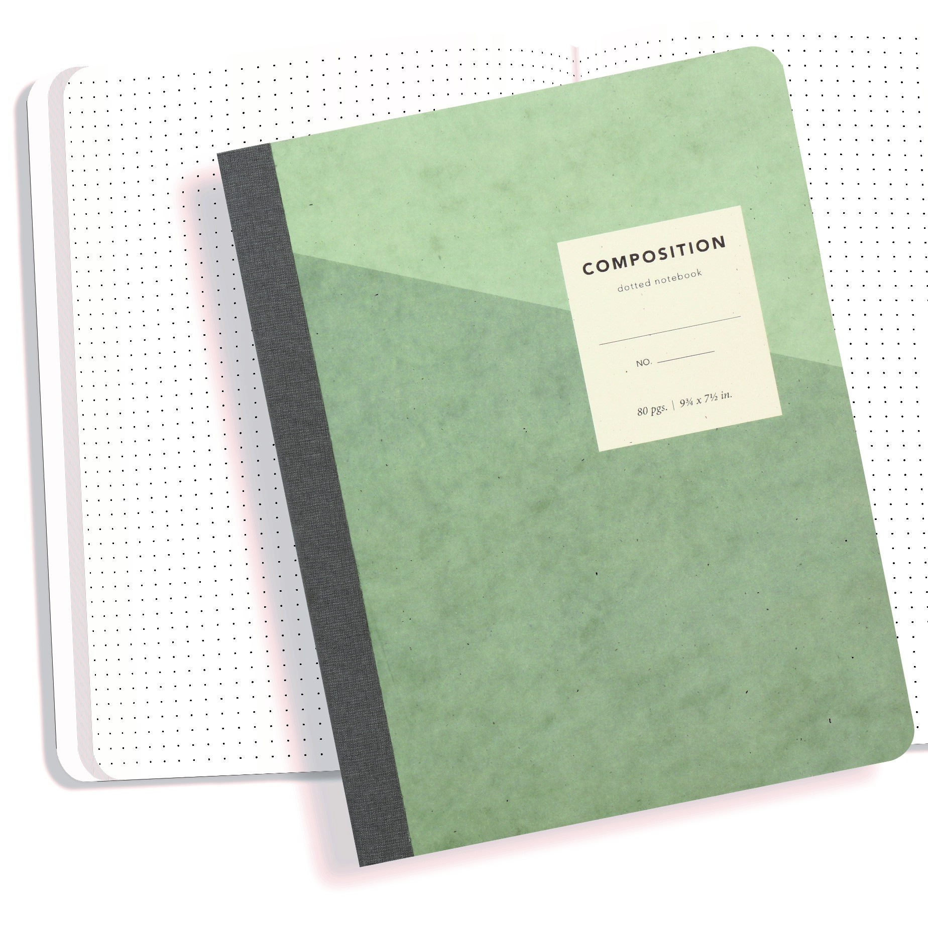 Image For Dotted Composition Notebook - 80 Pages