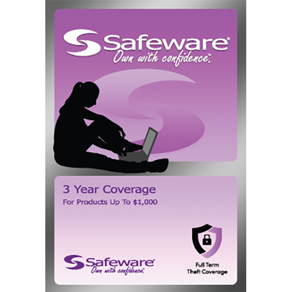 Image For Safeware 3 Year Coverage - For Products Up to $1000