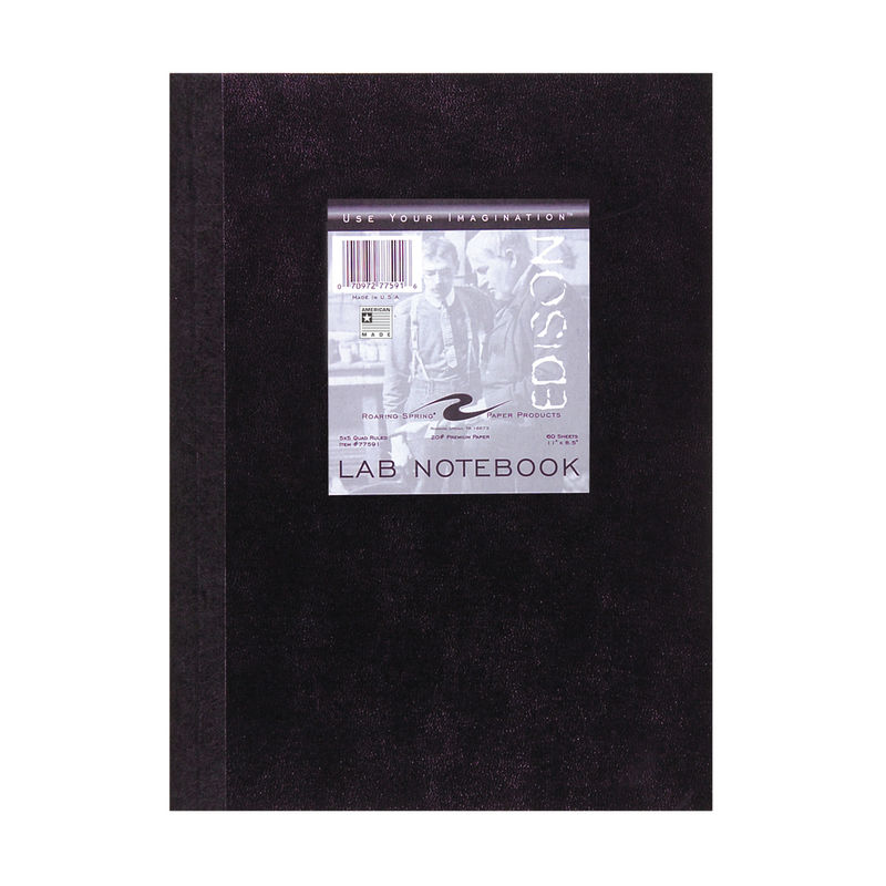 Image For Lab Book - Black Laminated