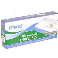 Image For Security Envelopes #10 - 45 ct.