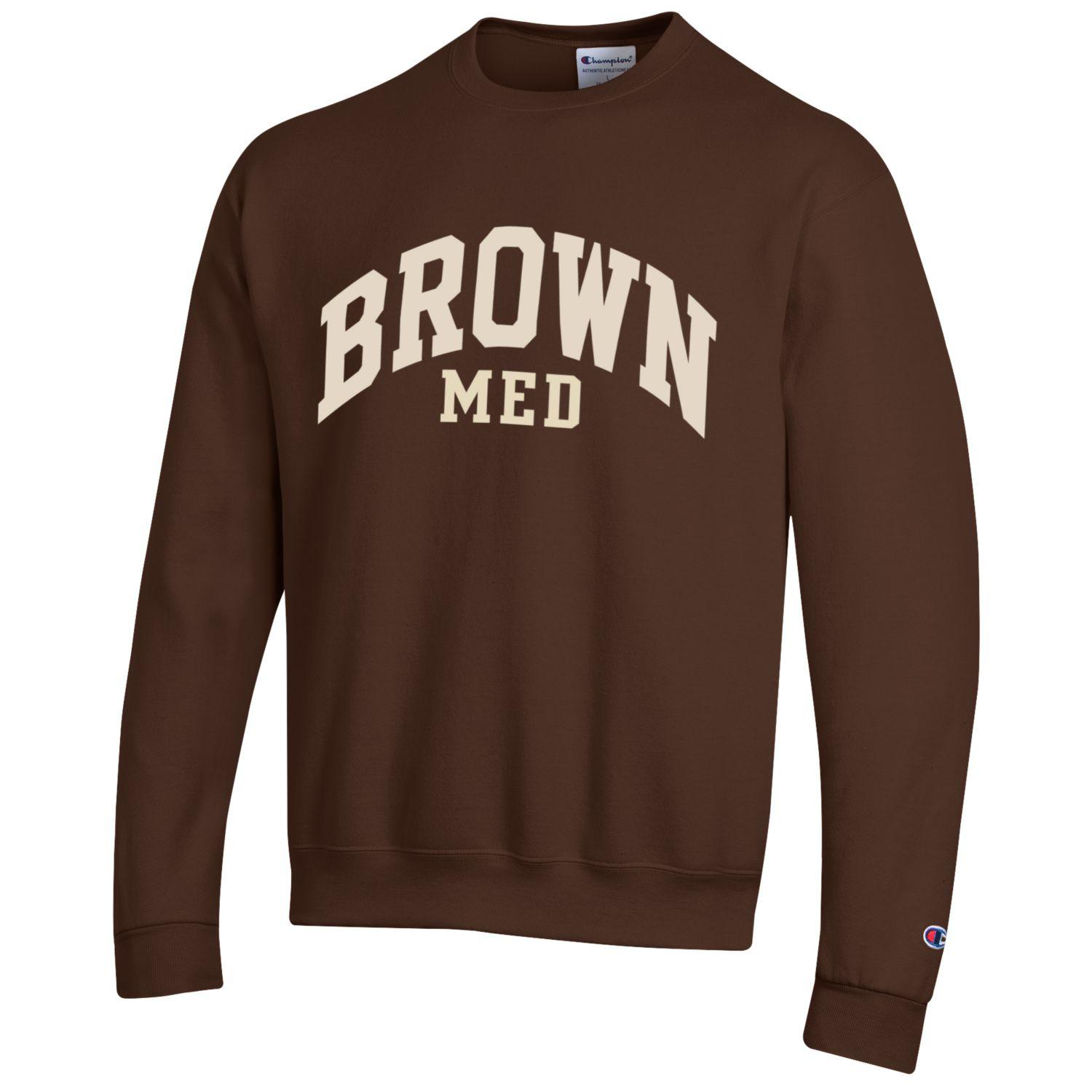 Image For Champion Brown Med Powerblend Fleece Crew