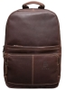 Leather Back pack - Dark Brown Image