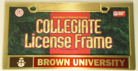 Image For License Plate Frame - Brass