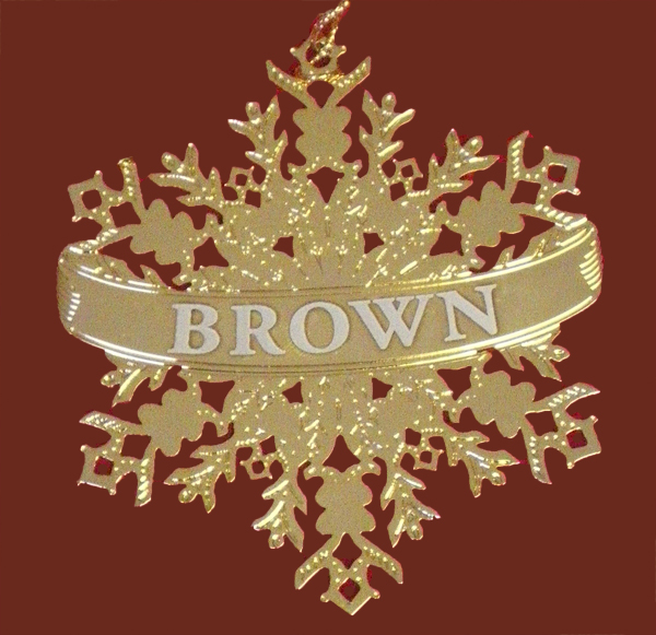Image For Ornament - Brass Snowflake