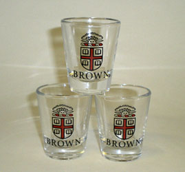 Image For Shot Glass - Brown Seal