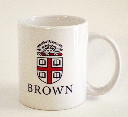 Image For Ceramic Mug - White with Brown Seal