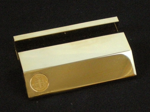 Image For Brass Business Card Holder