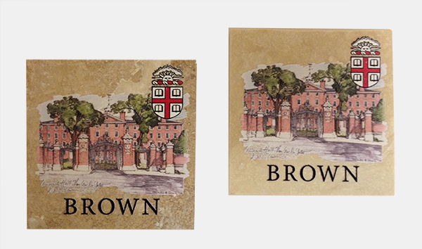 Image For Coasters with University Hall & Van Wickle Gates - Set of 2