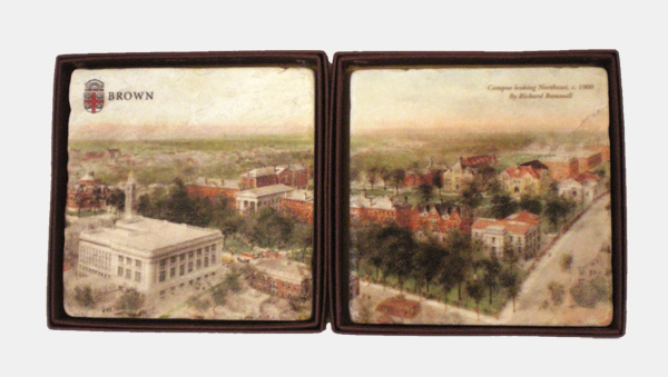 Image For Coasters - Marble with imprinted Campus Scenes - Set of 2